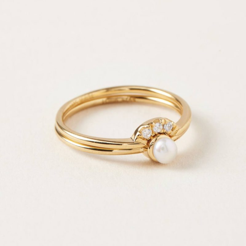bague double or opale