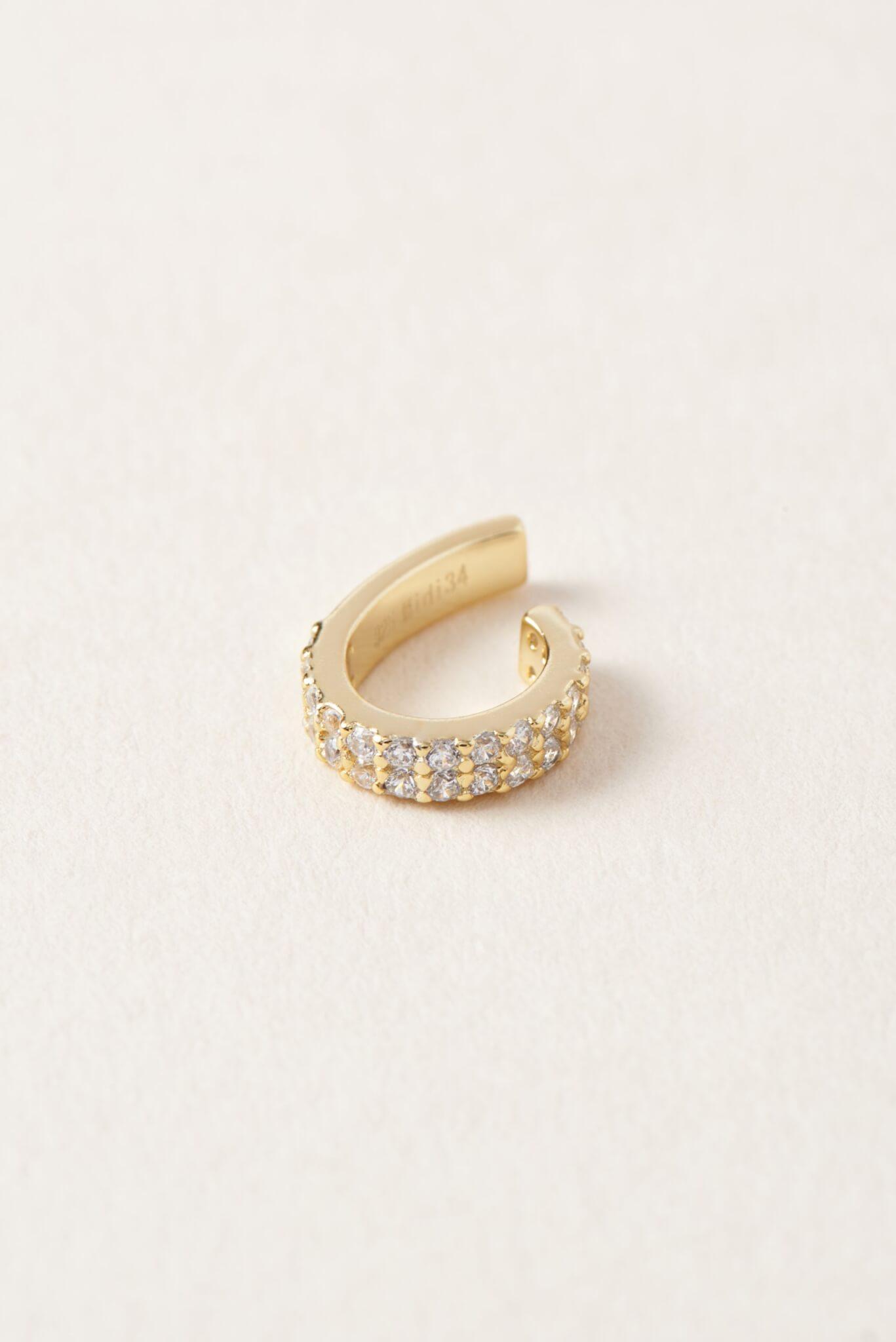 Gold ear cuff