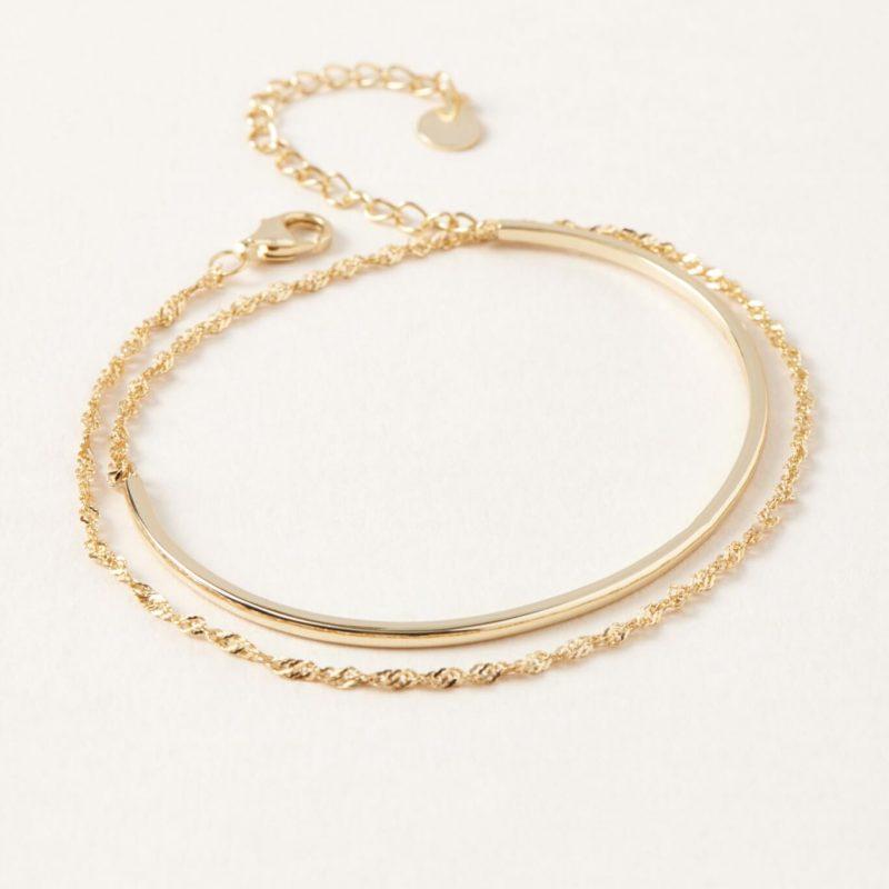 Bracelet double en or